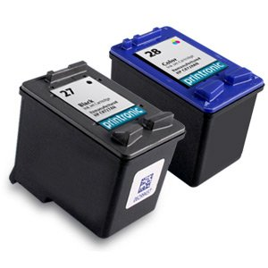 Remanufactured Ink Cartridge Replacement for HP 27 and HP 28 (1 Black 1 Color 2 - Cartridges Compatible Ink 28
