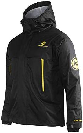 Airon raindrops-W01-L Waterproof Motorcycle Rain Suit Sets Men's, Women' s(Black, Set)