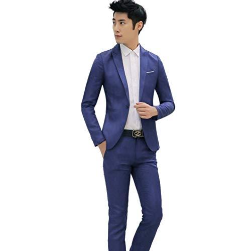 Mode Tops Casual Homme Fit Blazer Hommes Manteau Veste Costume Blau Charme Classique Slim D'affaires UzwH8B7q