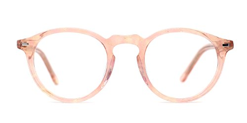 TIJN Vintage Eye-catching Keyhole Horn Rimmed Round Acetate - Frames Keyhole