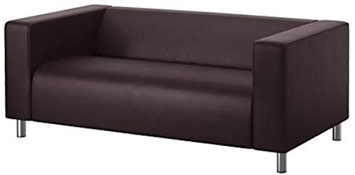 The PU Leather Klippan Loveseat Sofa Cover Replacement is Custom Made for IKEA Klippan Loveseat Sofa Slipcover. (Dark Brown Faux Leather)