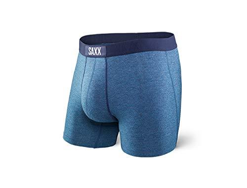 Saxx Underwear Vibe Men's Boxer Briefs Ballpark Pouch Indigo - Ind Flat