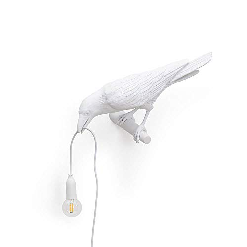 """Lampada In Resina""""Vogel Lamp"""" Cm.32,8X14,5 H.12,3 – Linker Kijkt White"""