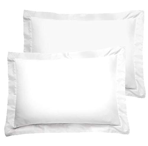American Pillowcase White Pillow Shams Set of 2 - Luxury 300 Thread Count 100% Egyptian Cotton (2 Pack, King 21 x 36)