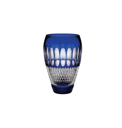 Cobalt Crystal Vase - Waterford Colleen Pres 8 Inch Cobalt Vase
