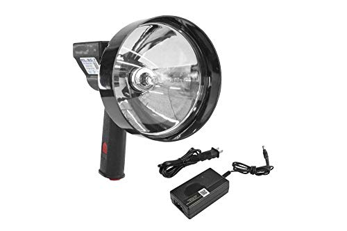 5 Million Candlepower Handheld Rechargeable Spotlight - 100W Halogen - Spot/Flood - 5