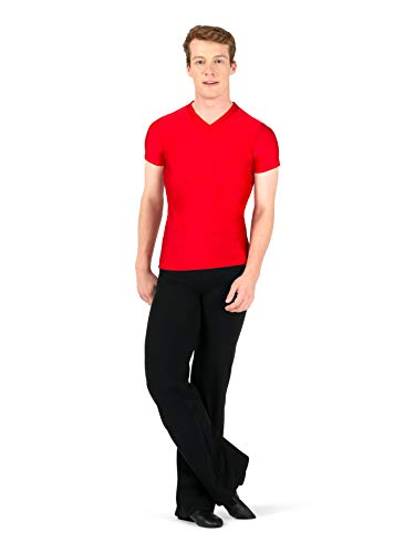 Body Wrappers Mens Dancewear Jazz Pant (Small, Black) - M191