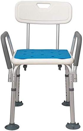 ZJN-JN Einstellbare Höhe Tragbarer Bad Hocker, Badesitz mit Rücken for Behinderte Alurahmen for ältere Menschen Badehocker, Badezimmer Bad Rollstühle
