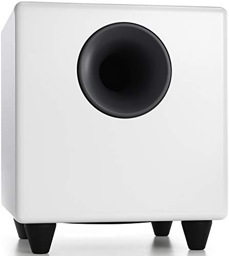 Audioengine S8 250W Powered Subwoofer | Built-in Amplifier | RCA and 3.5mm inputs | Cables Included
