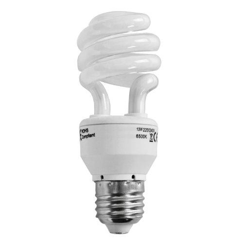 Lot de 3 Ampoules Spirale 6500k Lumière du Jour Fluocompacte / Basse Consommation 13 watt 6500k e-27