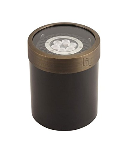 (LFU Brass Constructed Well/In-Ground Light Available. Low Voltage. Antique Bronze Finished. (1,)