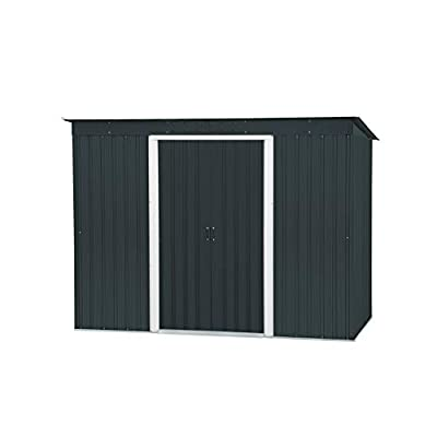 8x4 Metal Shed Duramax Pent Roof