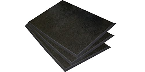 "Sterling Seal 597S2436x3 Comfort Stand HD Anti-Fatigue Mat, Single-Ply Foam, 24"" x 36"", Black (Pack of 3)"