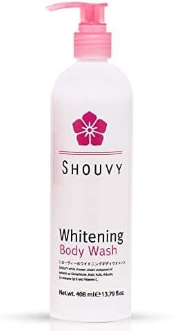Whitening Body Wash Shower Scrub   Hyaluronic Acid, Vitamin C Skin Lightening Treatment   Anti-Aging Face Bath Cream with Glutathione, Kojic Acids for Spot, Freckle, Scar Reduction - 13.79 fl.oz.