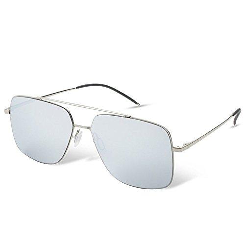 Les en Hommes Hommes Silver Sunglasses de de Polarisées pour Guide de Soleil TL Lunettes de Les Lunettes de Rectangle Carrés Pas Nylon Lunettes q8EwnB5C