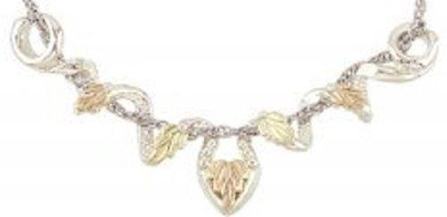 Black Hills Gold Silver Leaf Necklace Slider