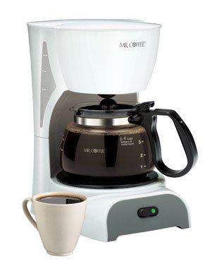 Sunbeam DR4-NP Pause 'N Serve Coffeemaker, 4 Cup, White