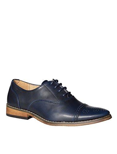 lacets London Marine of pour de Bleu Chaussures garçon Paisley ville à HUZxYn1q