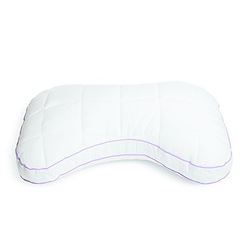 "Glideaway Quest Memory Foam Pillow - Breathable Stay Cool Fabric - Hypoallergenic & Anti Odor Material - 2"" Support Gusset for Head and Neck - Queen (Curved Foam)"