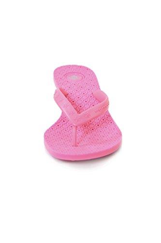 Fornarina Synthetic Flip Flops with Heel (4 cm) PEFMT4152WQ Fucsia