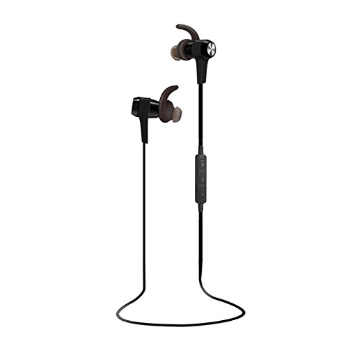 Sextet Bluetooth Headphones Wireless In-Ears Sports Earbuds, Sweatproof Earphones Noise Cancelling Headsets with Mic for Running Gym Workout 12 Hours battery (Black) (Sextet Phone)