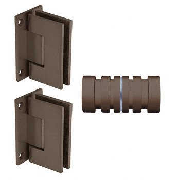 Crl Shower Door Hinge (CRL Oil Rubbed Bronze Geneva Shower Knob and Hinge Set)