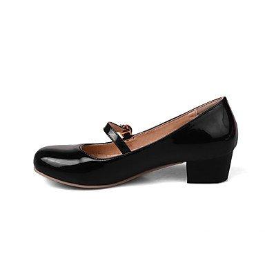 Le donne sexy elegante sandali donna tacchi Primavera Estate Autunno Inverno scarpe Club PU Office & Carriera Abito casual Chunky tacco fibbia nera Beige rosso , nero , us9 / EU40 / UK7 / CN41