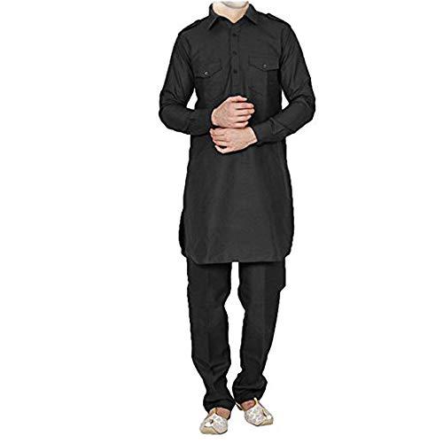 FOCIL Black Pathani Kurta Salwar for Mens