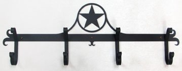 24 Inch Western Star Coat Bar by Village Wrought Iron