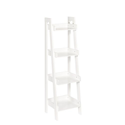 RiverRidge Kids 4-Tier Ladder Shelf, White (Wood Ships Ladder)
