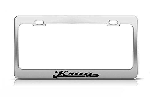 krug-last-name-ancestry-metal-chrome-tag-holder-license-plate-cover-frame-license-tag-holder