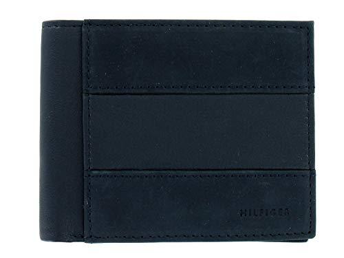 Tommy Hilfiger Men's Navy Genuine Leather | ID Holder | Bi-Fold Wallet