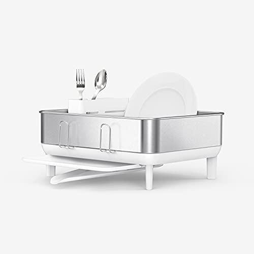 simplehuman - Estante compacto para secar platos de cocina
