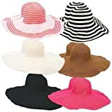 Casual Outfitters - 12 Pc Assorted Ladies' Floppy Sun Hat Set (1 pack of 12 items)