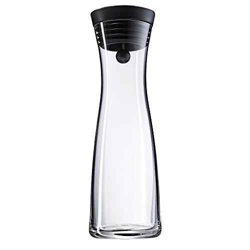 WMF Wasserkaraffe Basic 1l Höhe 29cm CloseUp-Verschluss Glas Cromargan Edelstahl