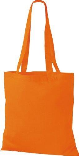 ShirtInStyle Premium Bolsa de tela Bolsa de algodón Bolsa Comprador Bolso de bandolera de muchos colores Naranja
