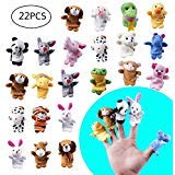(MOLECOLE 22 pcs Soft Plush Animal Finger Puppets Set Baby Story Time for Easter Theme Party Favor)