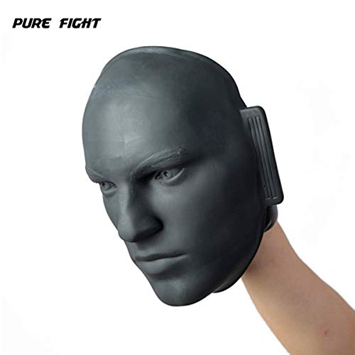 PUREFI Human Head Shape Boxing Target Rubber Hand Hold Training Punch Mitts Fit for MMA, Kickboxing, Muay Thai Sparring