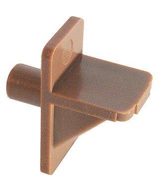Slide-Co 241945 Shelf Support Peg, 1/4-Inch, Brown Plastic,(Pack of 12) (Cabinet Shelf Supports)