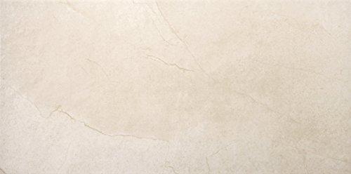 "Emser Tile F78STMOCR1224 ""St. Moritz II"" Porcelain Tile, 12"" x 24"", Cream"