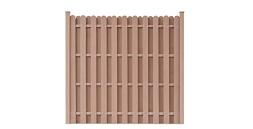 K A Company Fence Panel Square Wood Plastic Composite Brown 71 Inches X 71 Inches