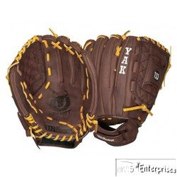 Wilson Baseball Fielders Glove (Wilson A1500 FP125 YAK Fielder's Right Hand Throw Fastpitch Glove (12.5-Inch))