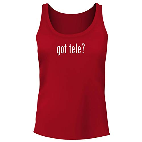One Legging it Around got Tele? - Women's Funny Soft Tank Top, Red, Large