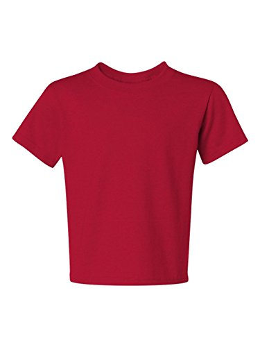 Red Youth Heavyweight T-shirt - Jerzees Youth 5.6 oz.; 50/50 Heavyweight Blend� T-Shirt - TRUE RED - S