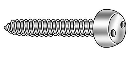 TAMPER-PRUF SCREW 121460 Tamper Screw,Pan,#8,1//2 in L,PK25