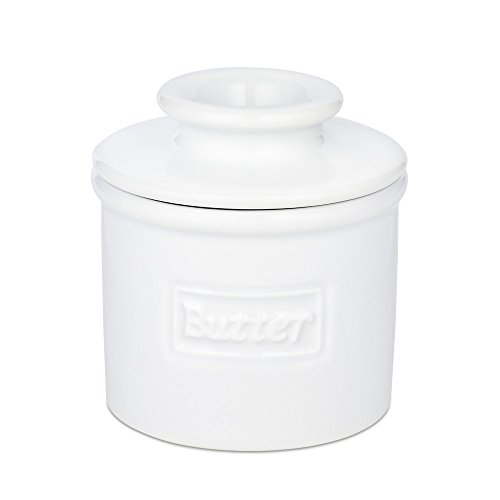 The Original Butter Bell Crock by L. Tremain, Cafe Collection White (Butter Crock With Lid compare prices)