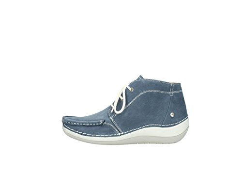 Olympia Blue Nubuck Denim Comfort Wolky Lace up Boots 10820 xAWq7C