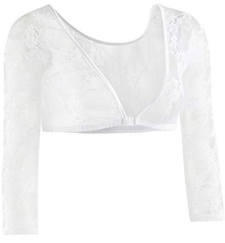 (Sleevey Wonders Women's Basic 3/4 Length Slip-on Lace Sleeves 2X)