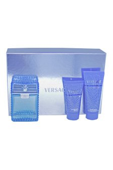 Versace Man Eau Fraiche by Versace for Men - 3 Pc Gift Set 3.4oz EDT Spray, 3.4oz Perfumed Bath and Shower Gel, 3.4oz After Shave Balm by Versace