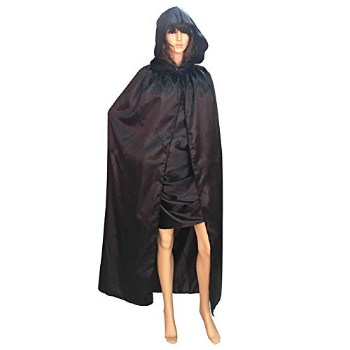 Zcargel Children's Halloween Cape Cloak,Wizard Devil's Cloak Red and Black Death Cloak]()